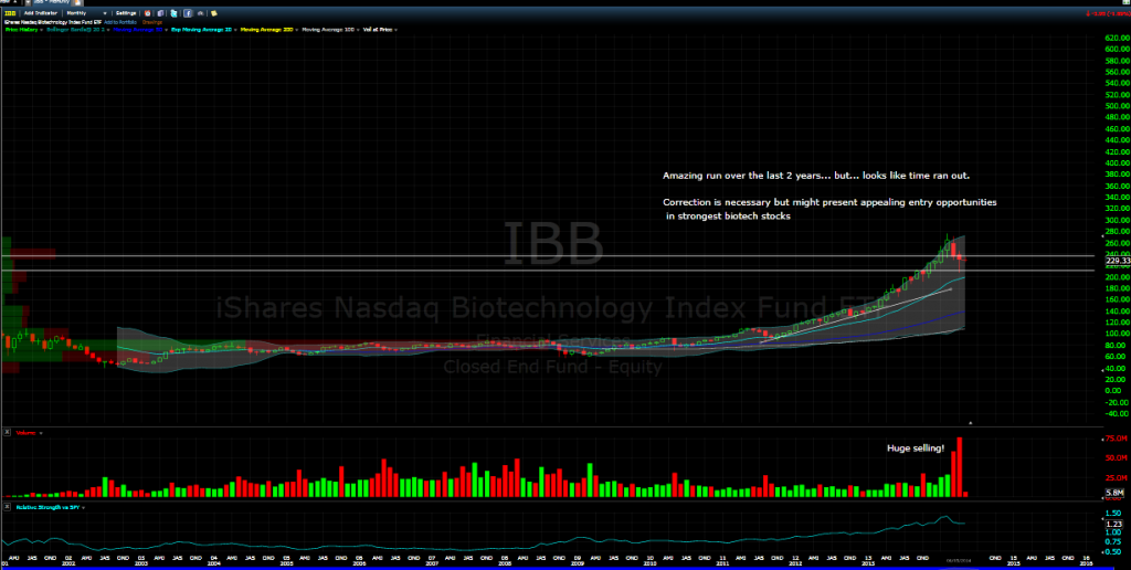 Biotech Stock Bubble 2014